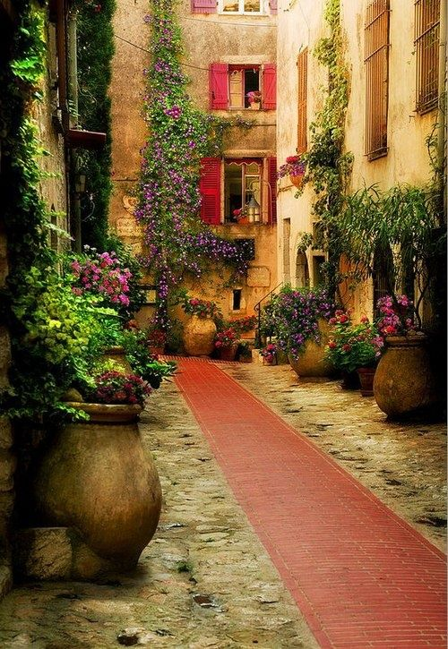 Ancient Courtyard, Provence, France