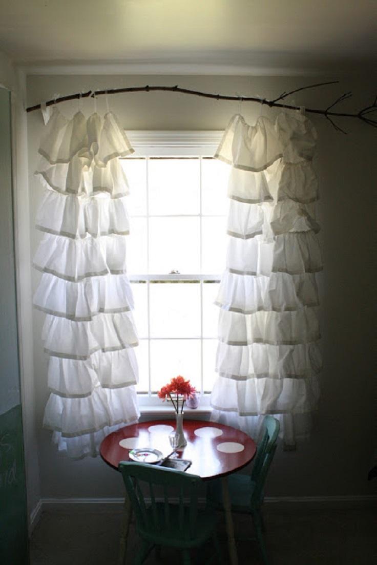 Creative DIY White Curtains