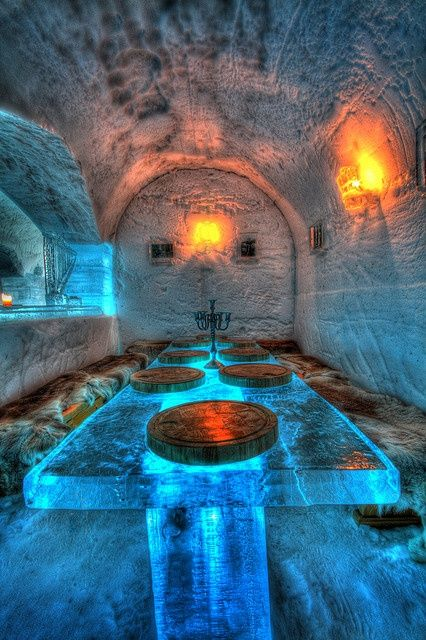 Ice hotel at Sorrisniva, Alta, Norway..