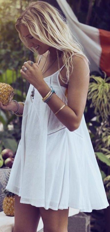 Mini White Summer Dress Fashion Lace Dresses