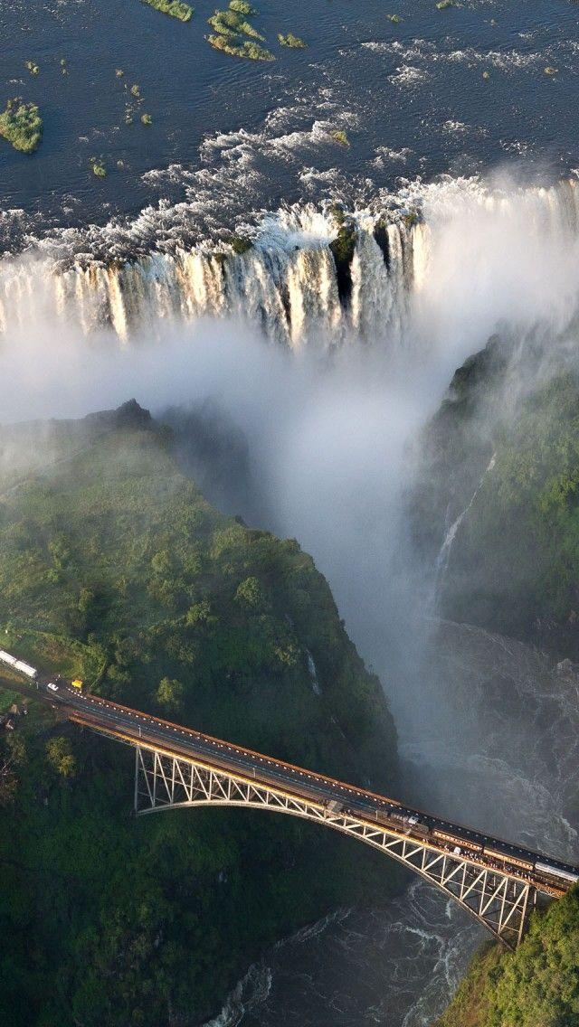 Victoria Falls Zambezi River Zambia and Zimbabwe