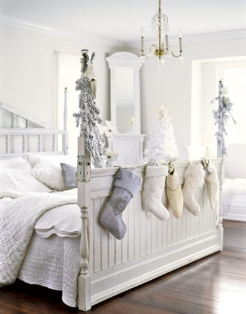White Vintage Christmas Ideas 2015 (26)