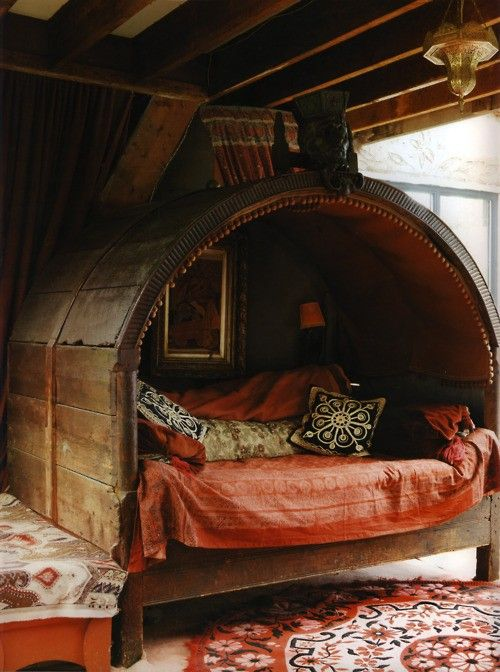 bohemian bed nook