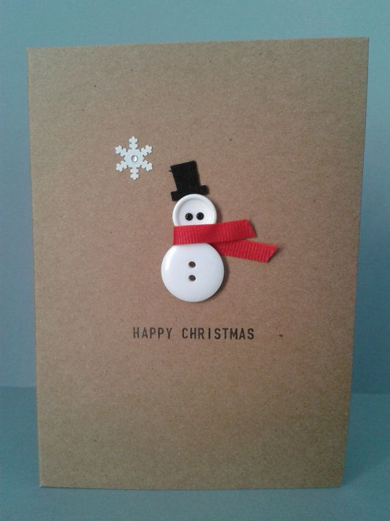 Christmas Button Card Craft