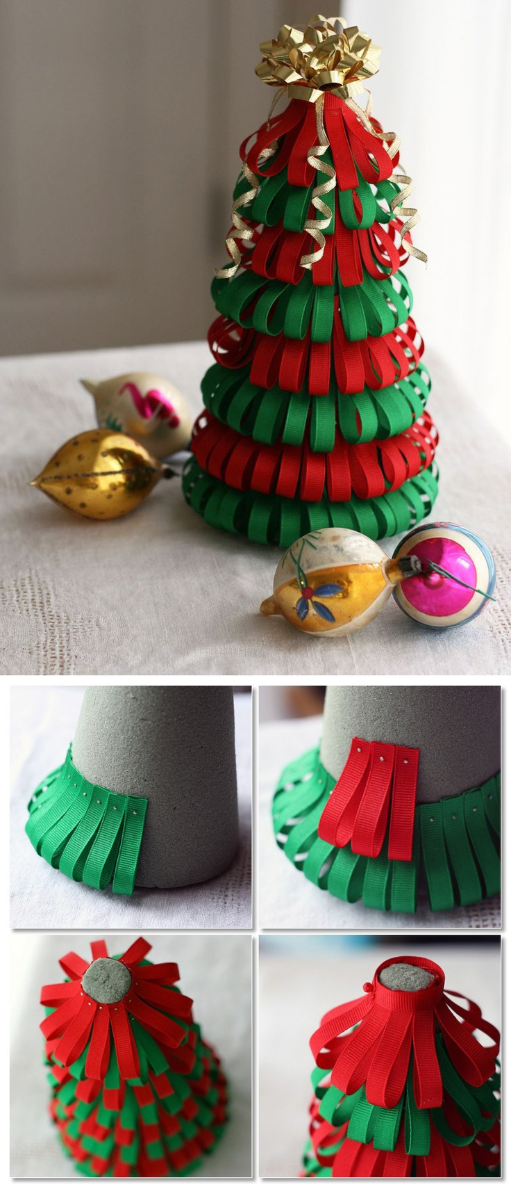 DIY Ribbon Christmas Tree
