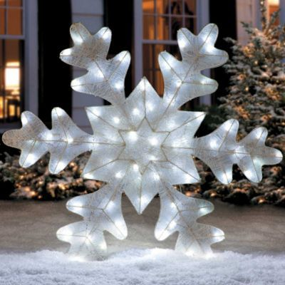 LED Twinkle Snowflake Christmas Decoration