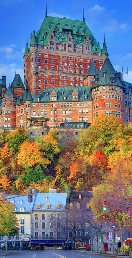 'Le Chateau de Frontenac In Autumn' ~ Quebec City, Quebec,Canada