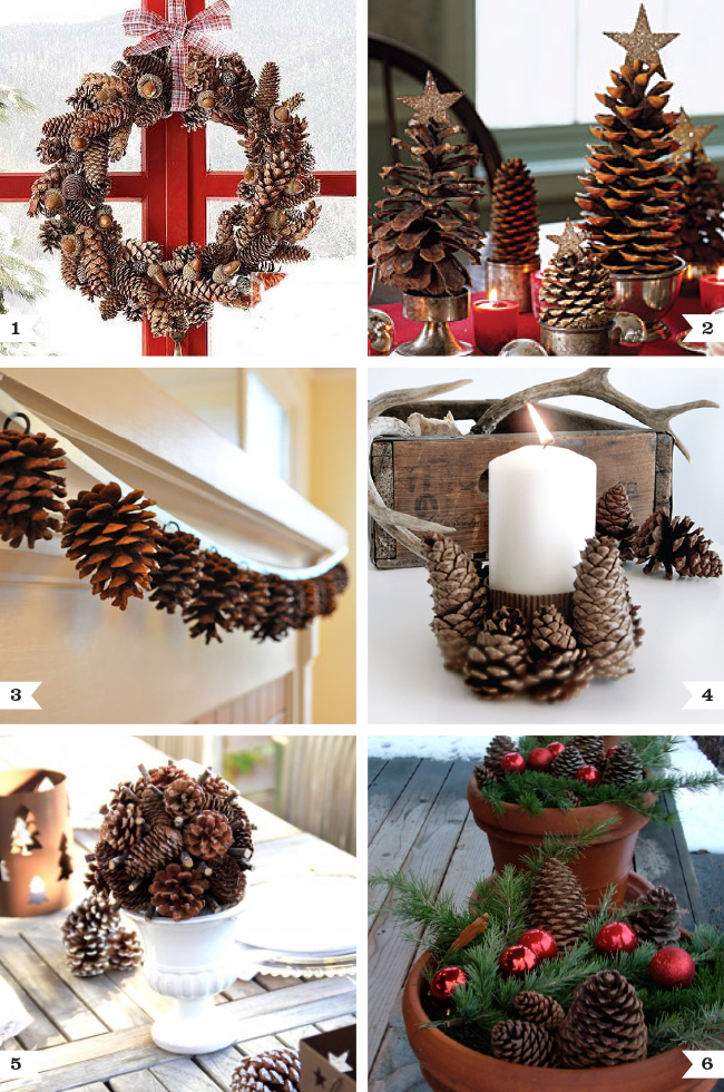 pine cone decoration ideas for christmas