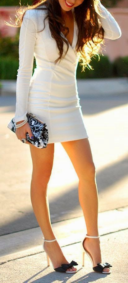 Classy White Dresses For Christmas Eve Party The Wow Style