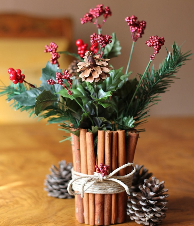 Cinnamon Stick Floral Centerpiece
