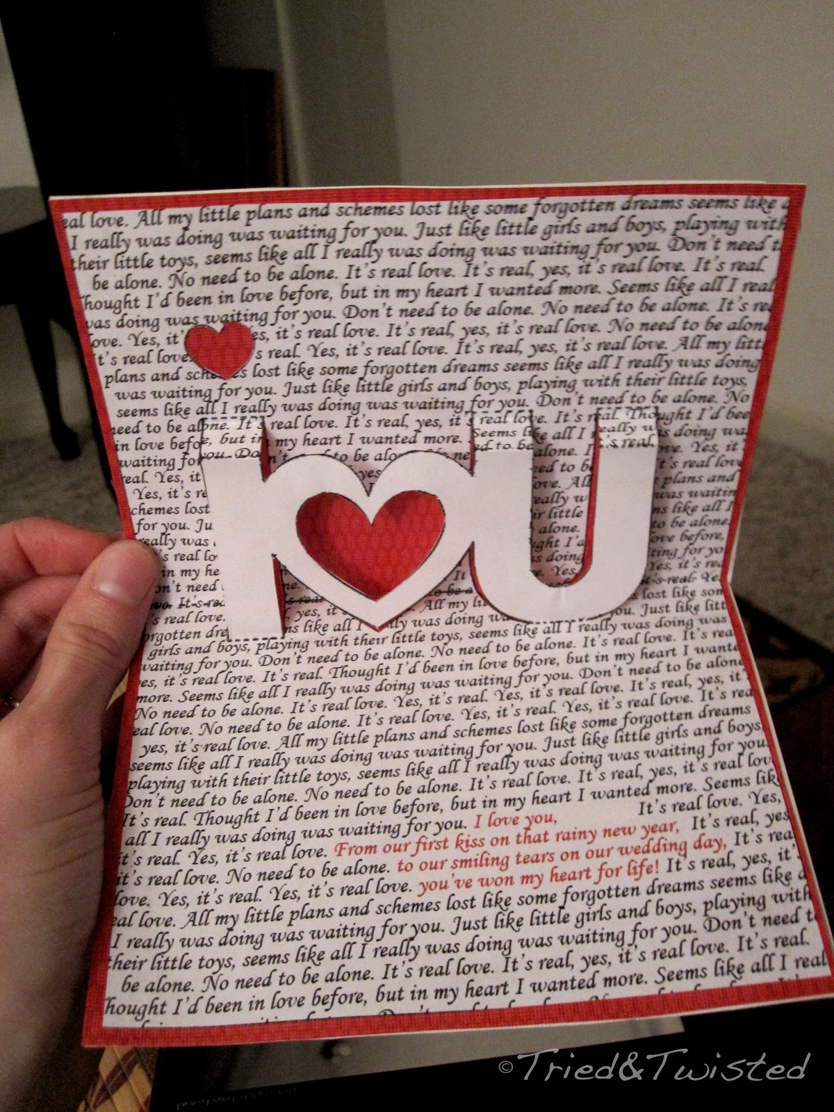 Diy Pop Up Valentine Card