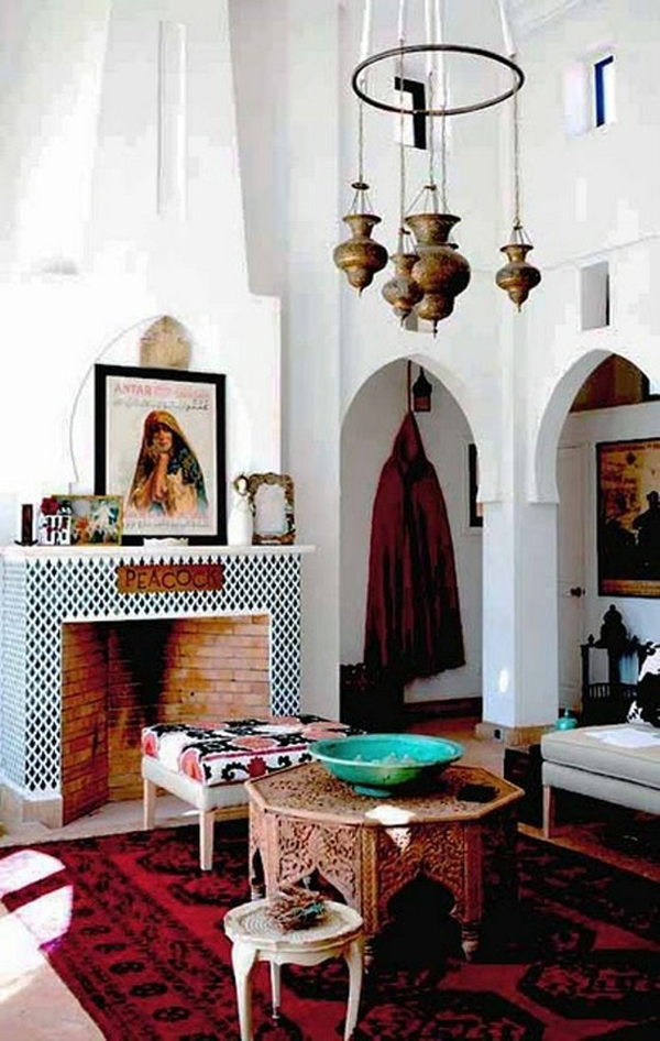 25 modern moroccan style living room design ideas for Moroccan style home accessories