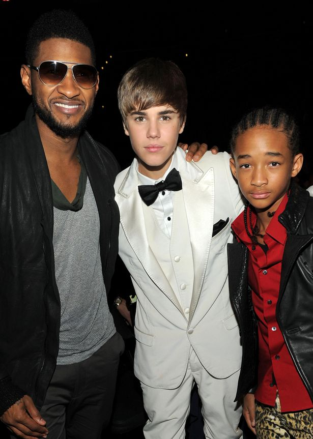 2011-Jaden-Smith-poses-with-Usher-and-Justin-Bieber-at-the-Grammys