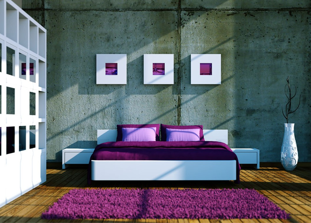 Modern Purple Interior Design Bedroom Ideas