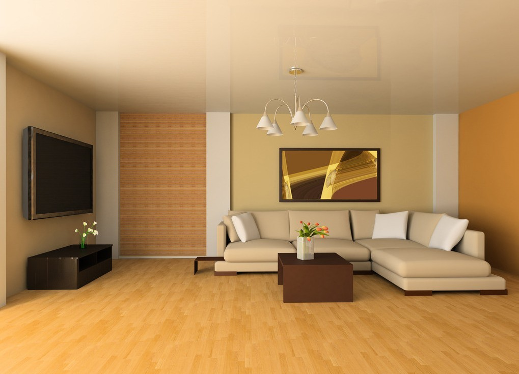Pale Yellow Living Room Interior Design