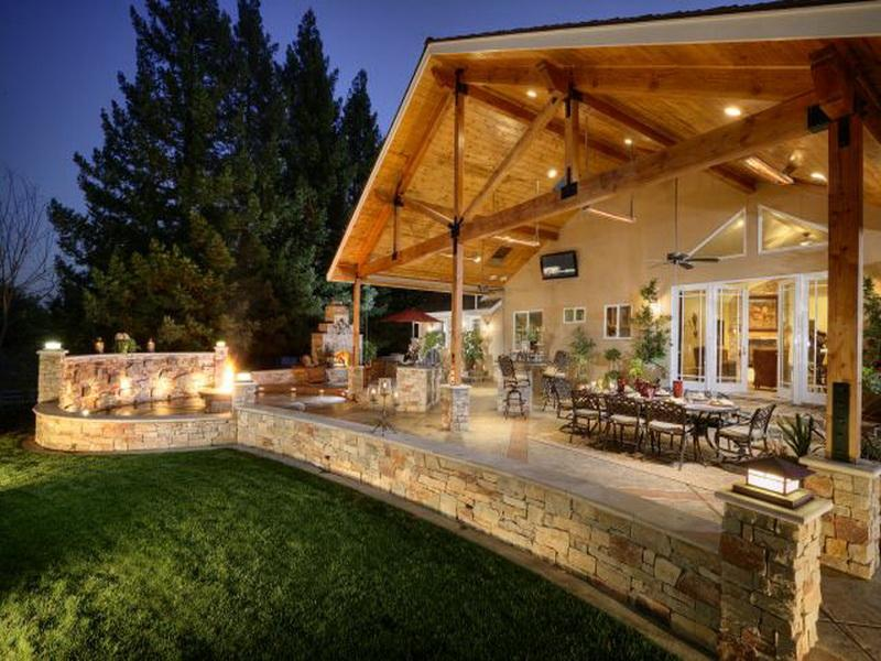 35 Outdoor Living Space For Your Home - The WoW Style on Outdoor Kitchen Living Spaces id=85408