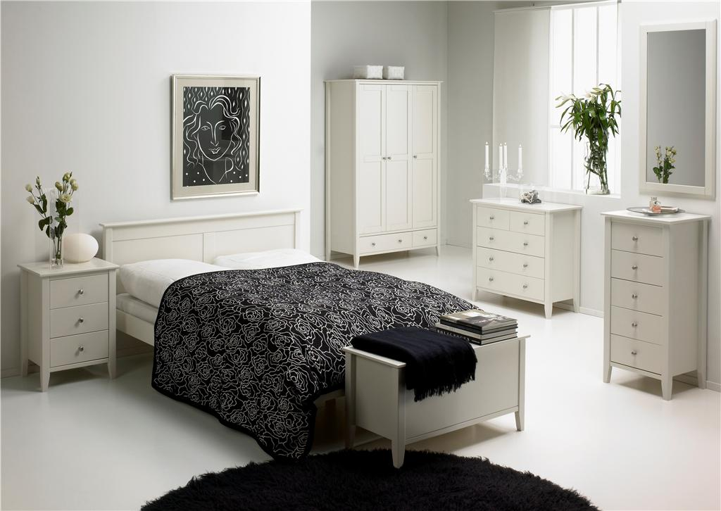 White-Bedroom-Furniture-With-Indoor-Plants-Cool-White-Bedroom-Design-Ideas