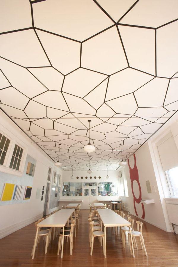 White-Ceiling-Design-for-Restaurant