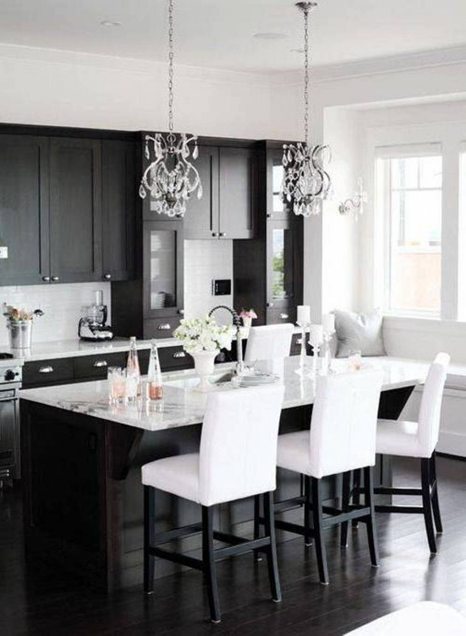 30 monochrome kitchen design ideas for Monochrome design ideas