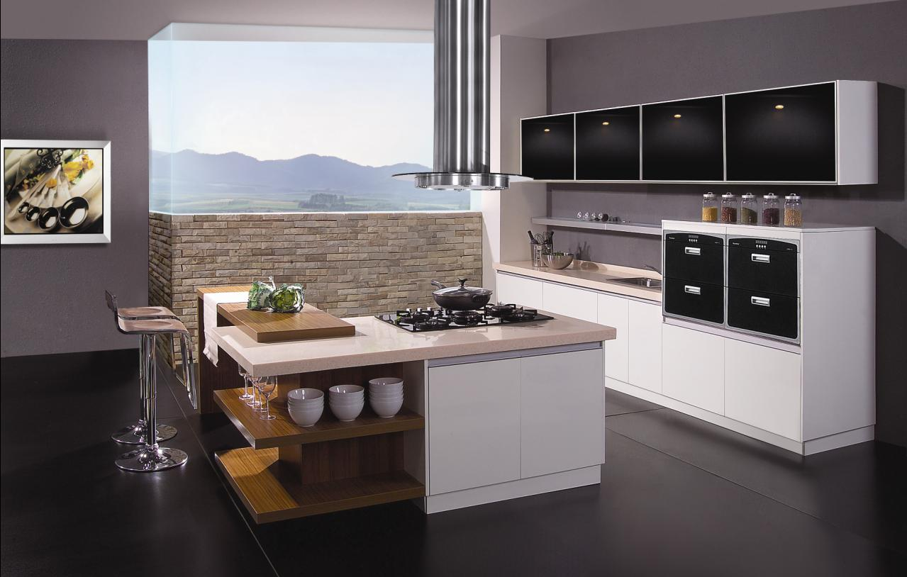 black-modular-kitchen