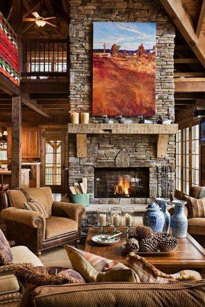 40 rustic interior design for your home Interior cabin designs