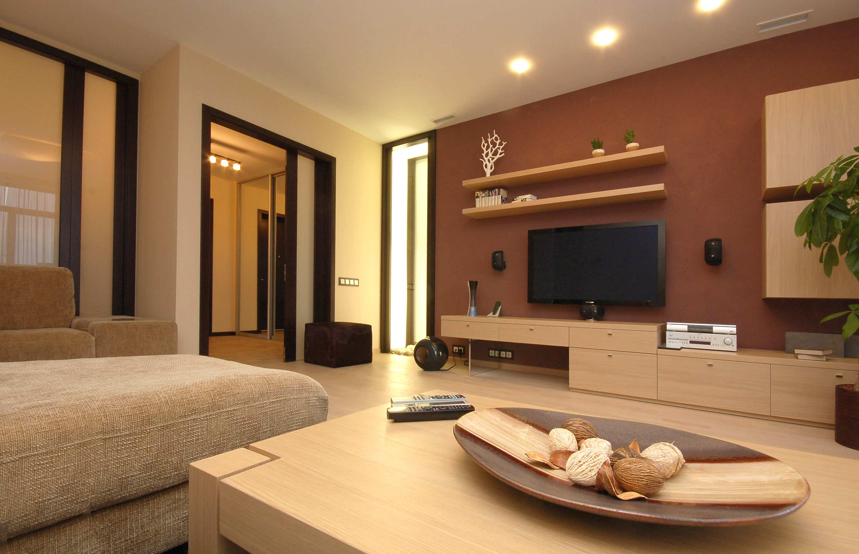 furniture-interior-livingroom-modern-chairs-living-room-small-calm-living-room-color-paint-design-ideas-with-beige-sofa-maple-wood-coffee-table-plus-oval-tray-and-also-wall-mounted-shelves-and-tv-sta