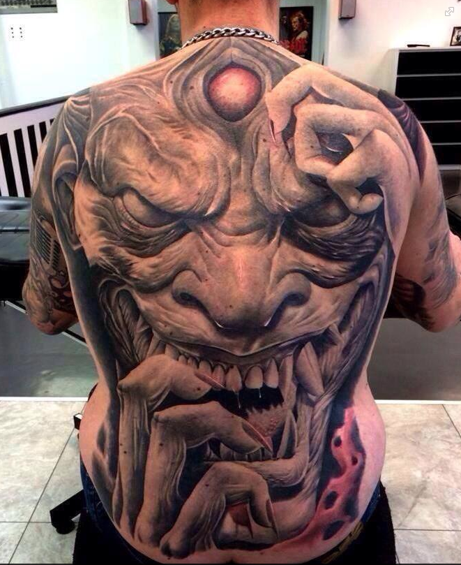menacing-japanese-back-tattoo