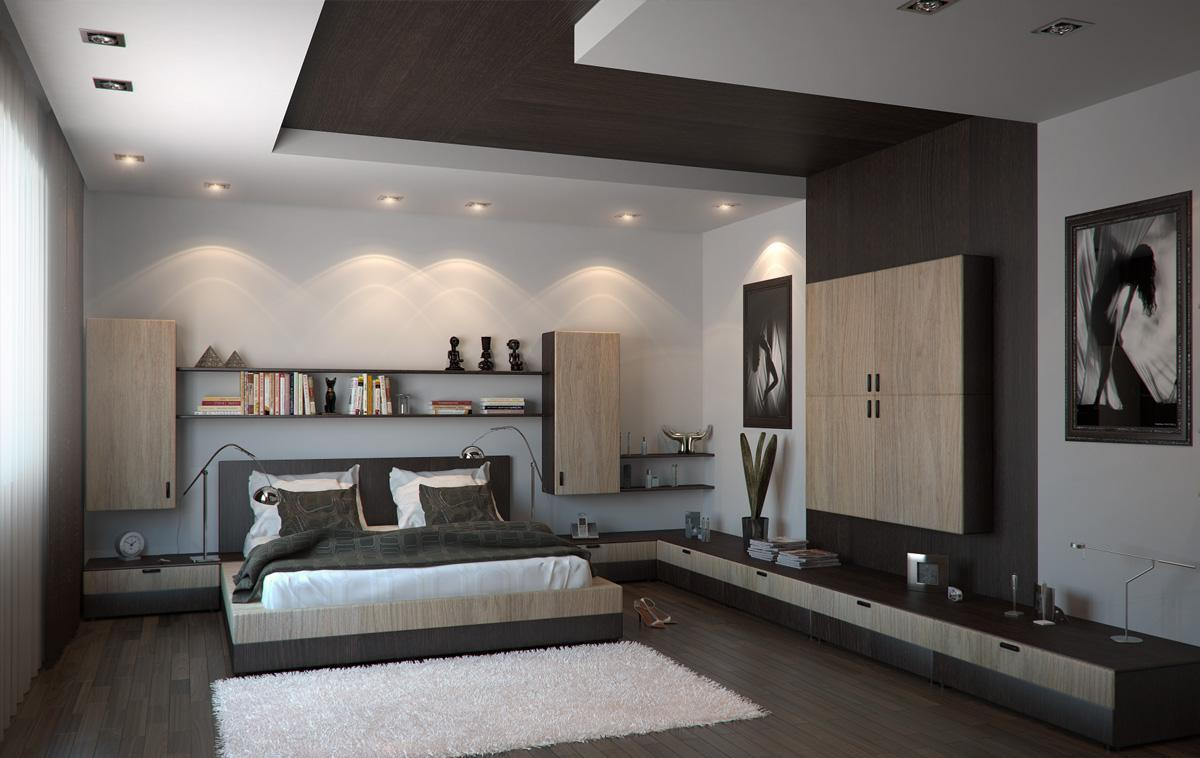 plaster-of-paris-ceiling-design-for-bedroom-with-wooden-flooring-ideas