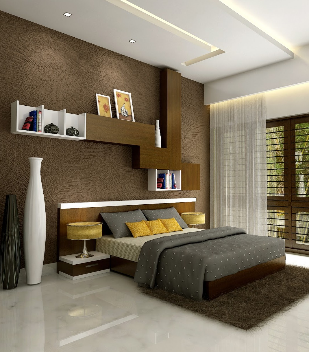 wooden bedroom.