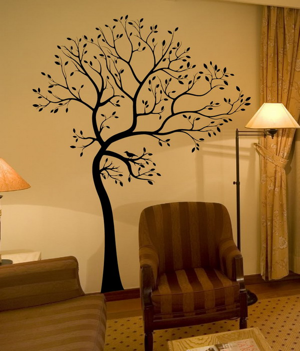 Decorating Tree Wall Murals Home Interior Design Ideas1
