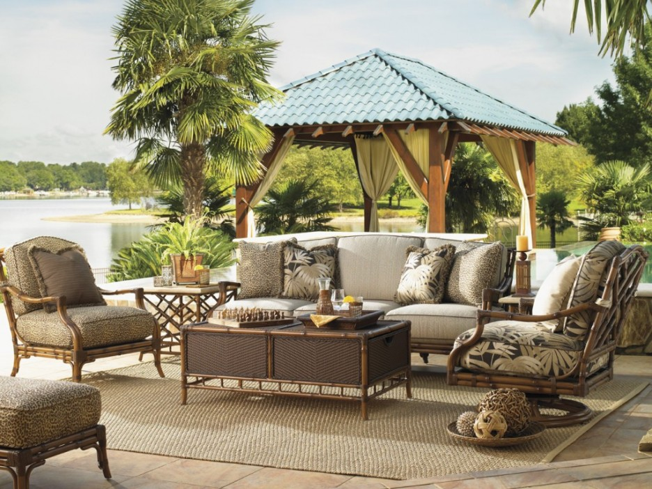 Inspirations-Best-Of-Sample-Outdoor-Patio-Design-For-Your-Ideas-Stunning-Tommy-Bahama-Outdoor-Furniture-Ideas-Backyard-Patio-Lake-View-With-Rustic-Tropical-Design-Inspiration