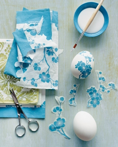 Paper Napkin Decoupage Easter Eggs