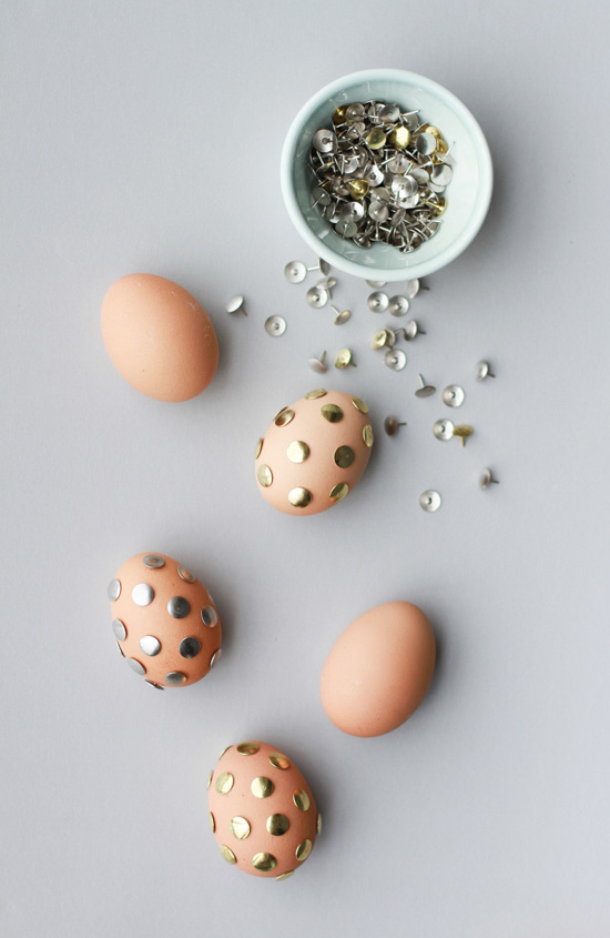 Polka Dot Thumb Tack Easter Eggs