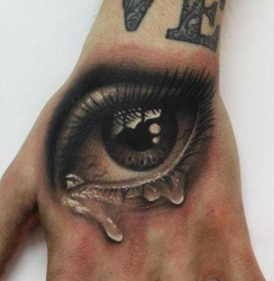 crying-eye-hand-tattoo