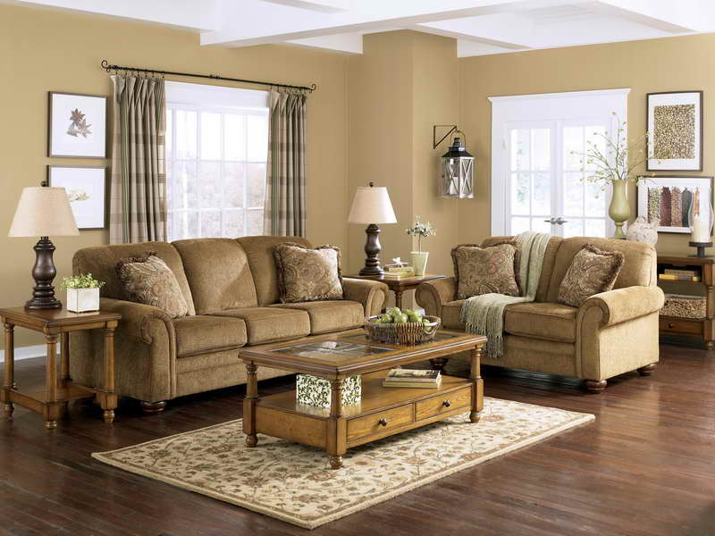 good-brown-sofa-and-rug-above-wooden-floor-in-traditional-living-room-plus-table-lamp-Traditional-Rug-Living-Room-Design-Ideas