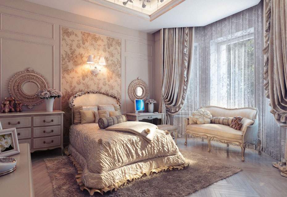 25 traditional bedroom design for your home for Beautiful bedroom decor