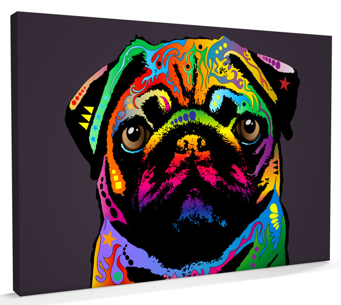 127-pug-canvas-art