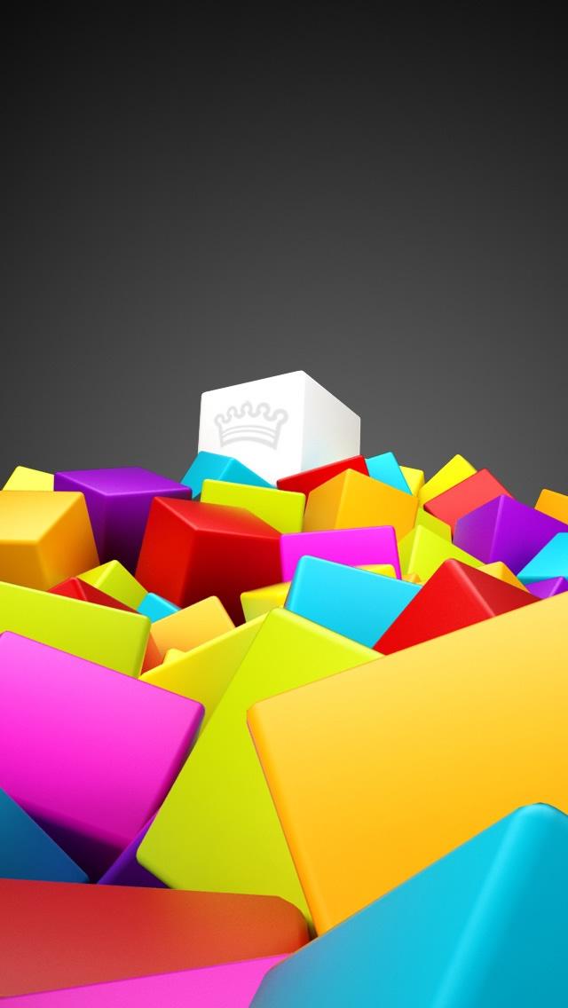 3D-Colorful-Squares-iphone-5-wallpaper-ilikewallpaper_com