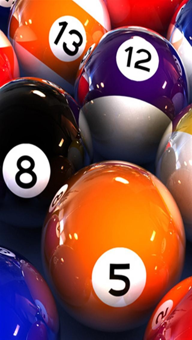 Billiard Balls Closeup-640x1136 wallpapers
