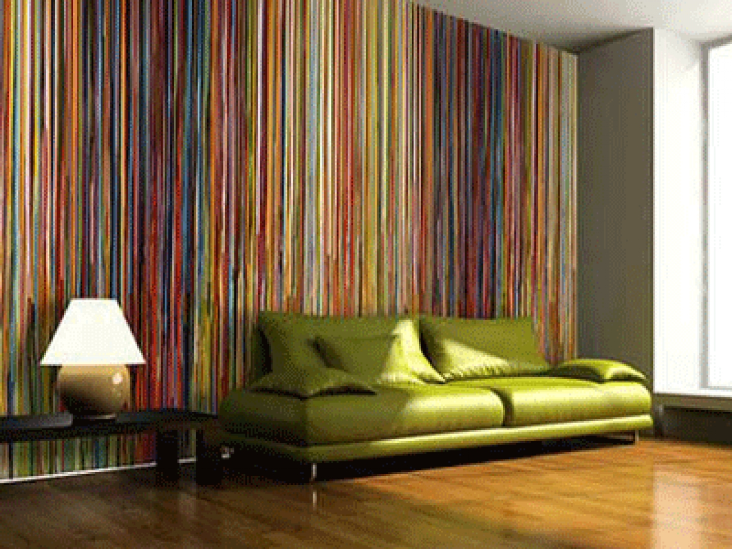 30 modern home decor ideas for Striped wallpaper bedroom designs