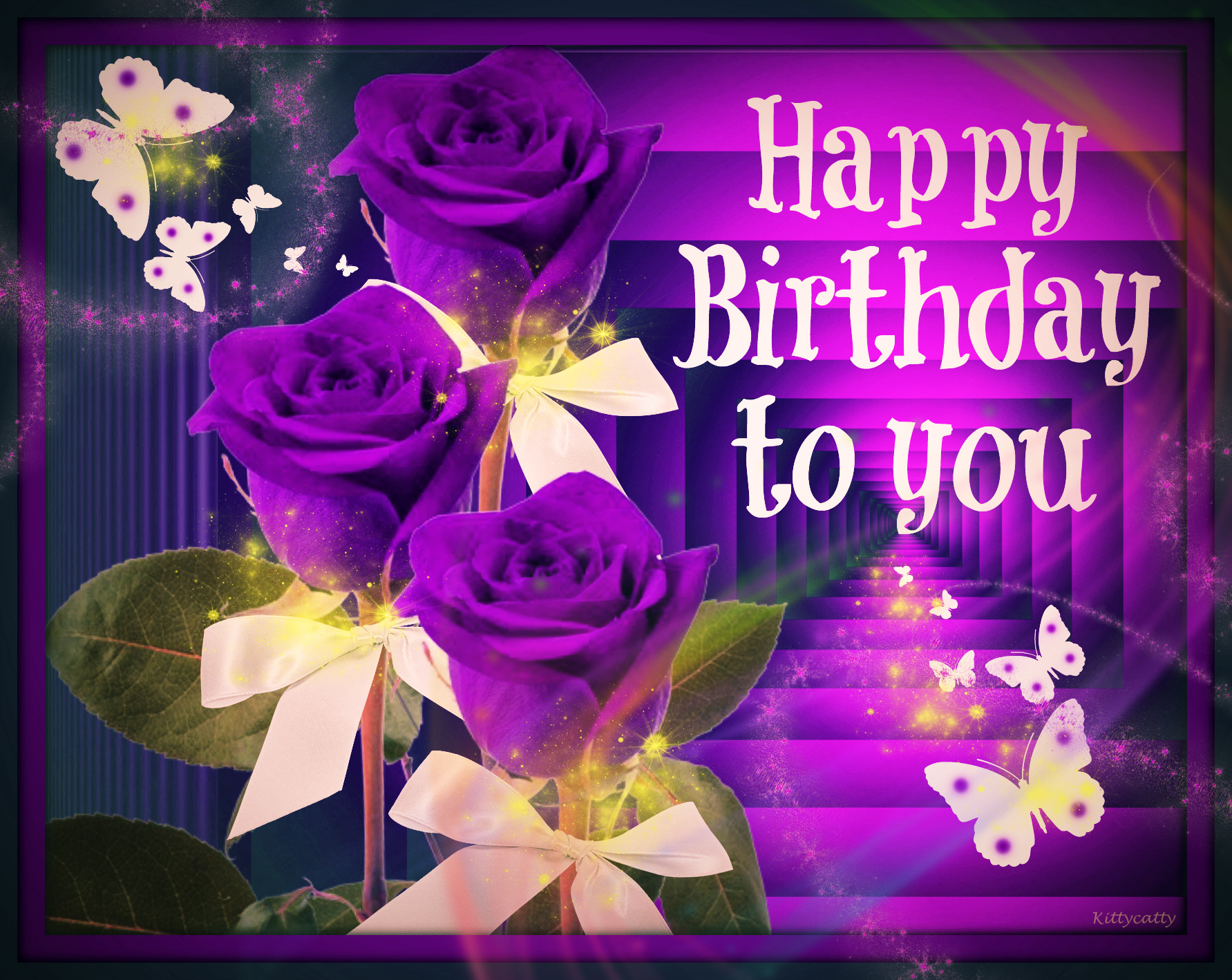 Happy birthday purple flowers comousar happy birthday purple flowers happy birthday card izmirmasajfo