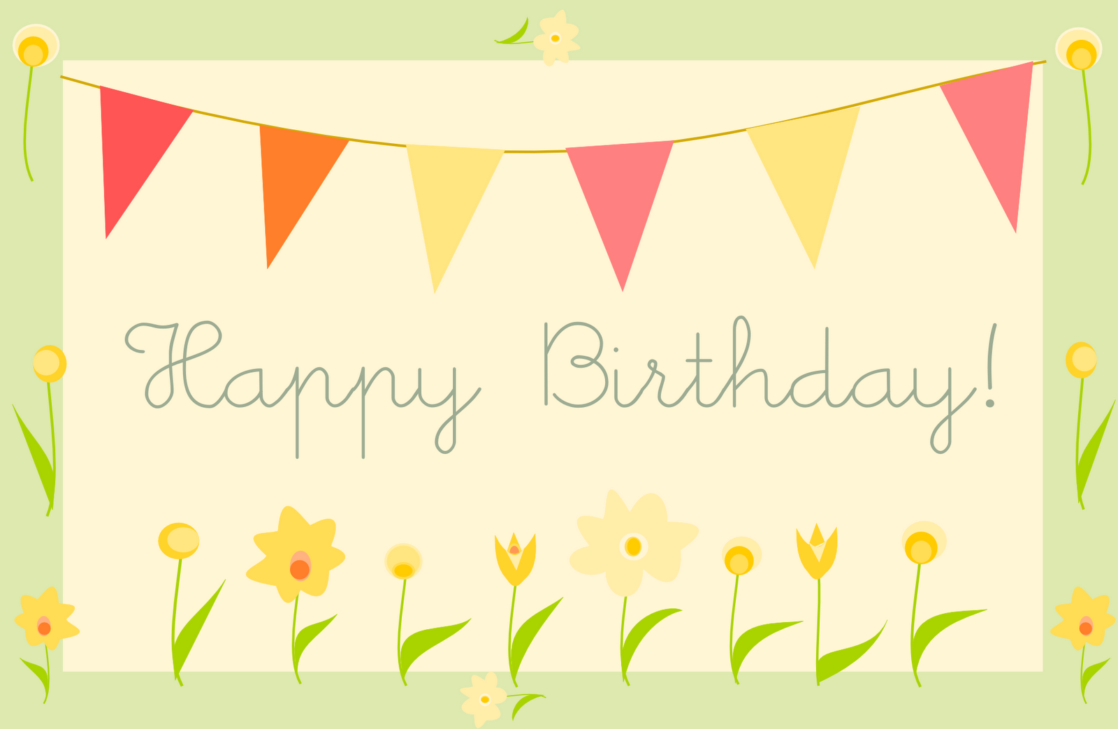 Happy Birthday Greeting Cards Printables 3