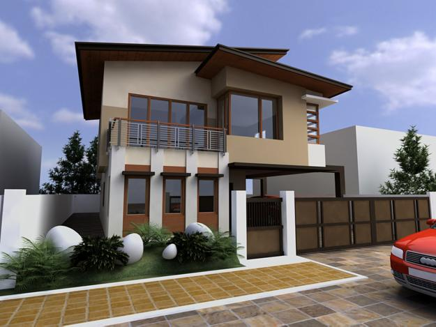 30 contemporary home exterior design ideas for Small house exterior design philippines