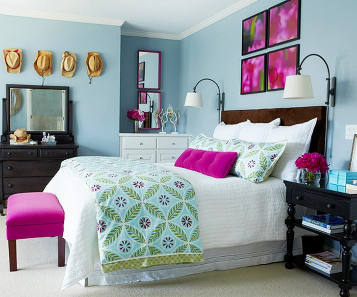 30 best decorating ideas for your home for Fuschia bedroom ideas