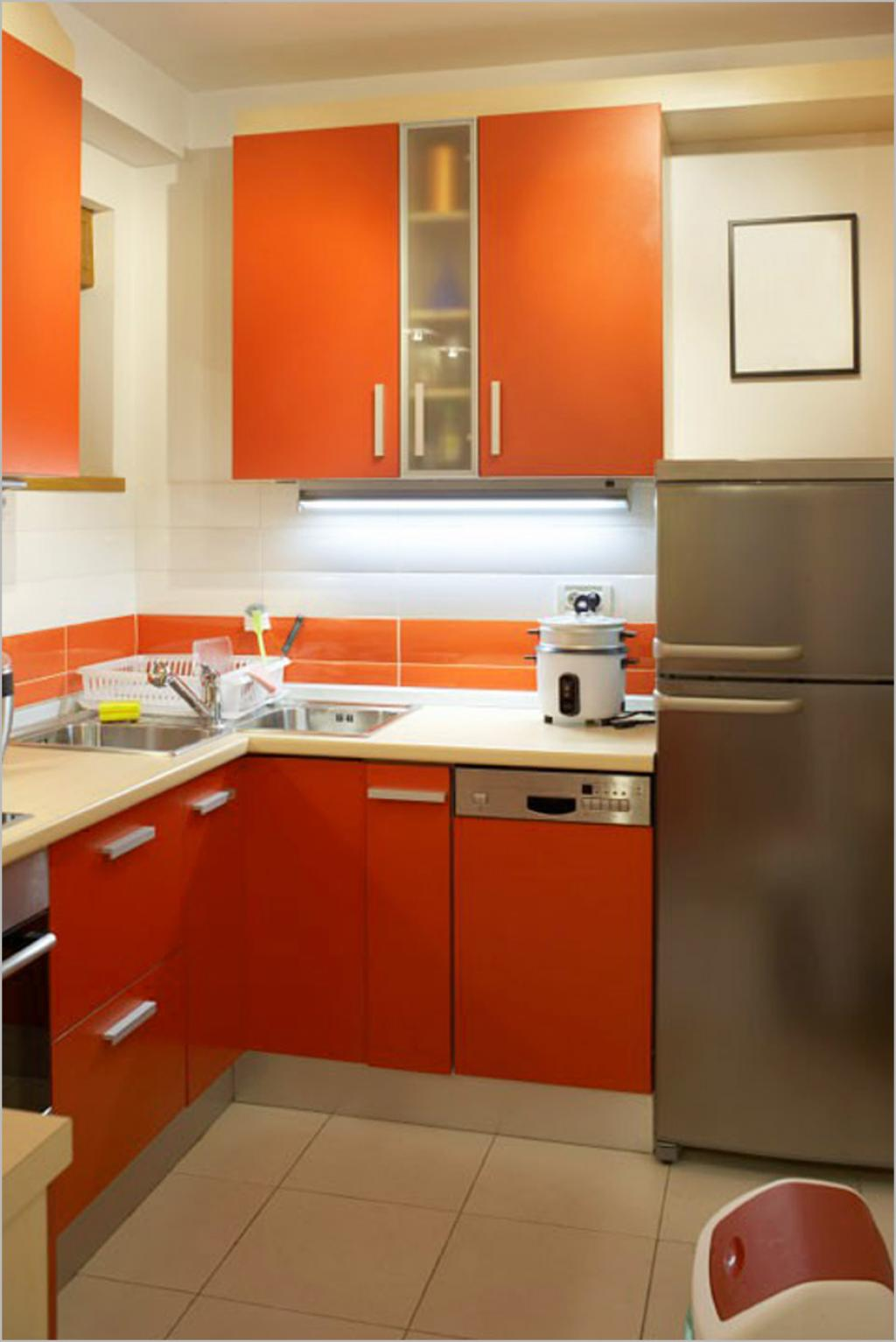 Small Kitchen Ideas and paints design - View Affordable Kitchen Simple Low Cost Small House Kitchen Design PNG