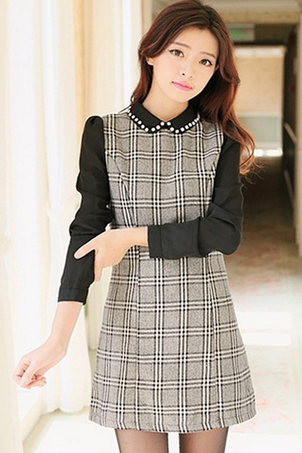 bejeweled-plaid-tunic-dress