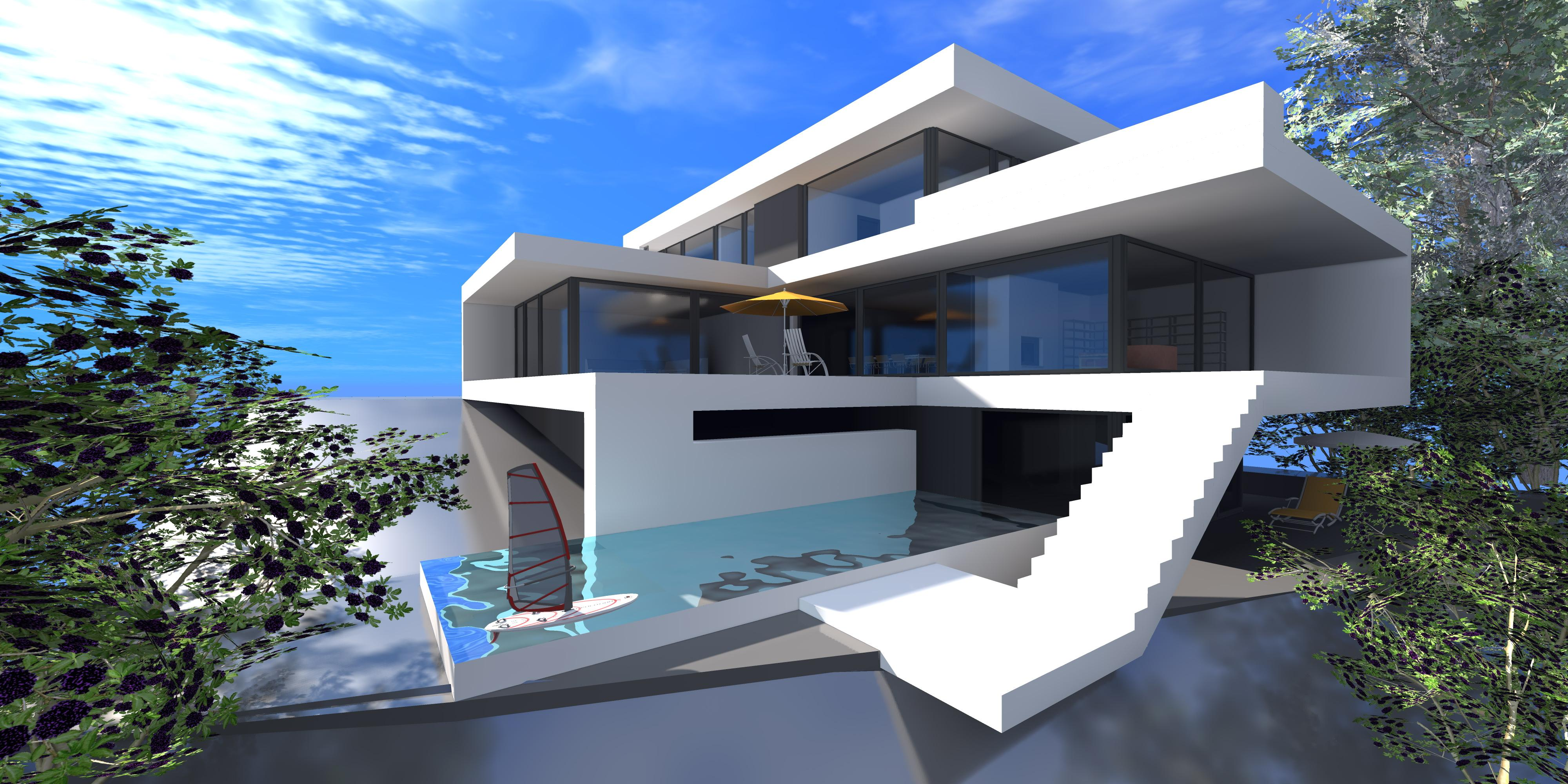 25 awesome examples of modern house for Awesome house blueprints