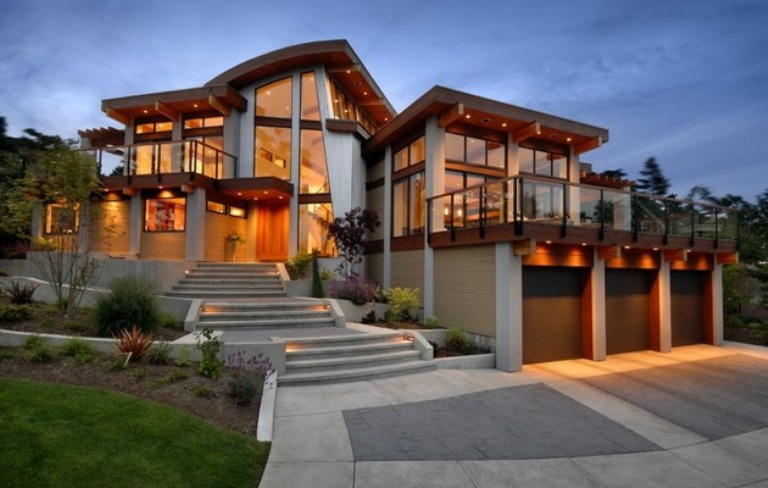 25 awesome examples of modern house for Big modern house designs