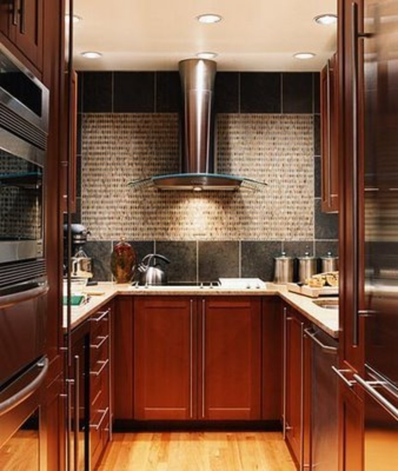 28 small kitchen design ideas for Pictures of small kitchen cabinets