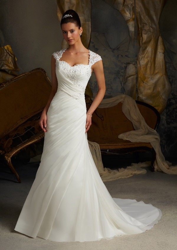 whiteivory_a-line_sweetheart_court_train_lace_organza_wedding_dress-1